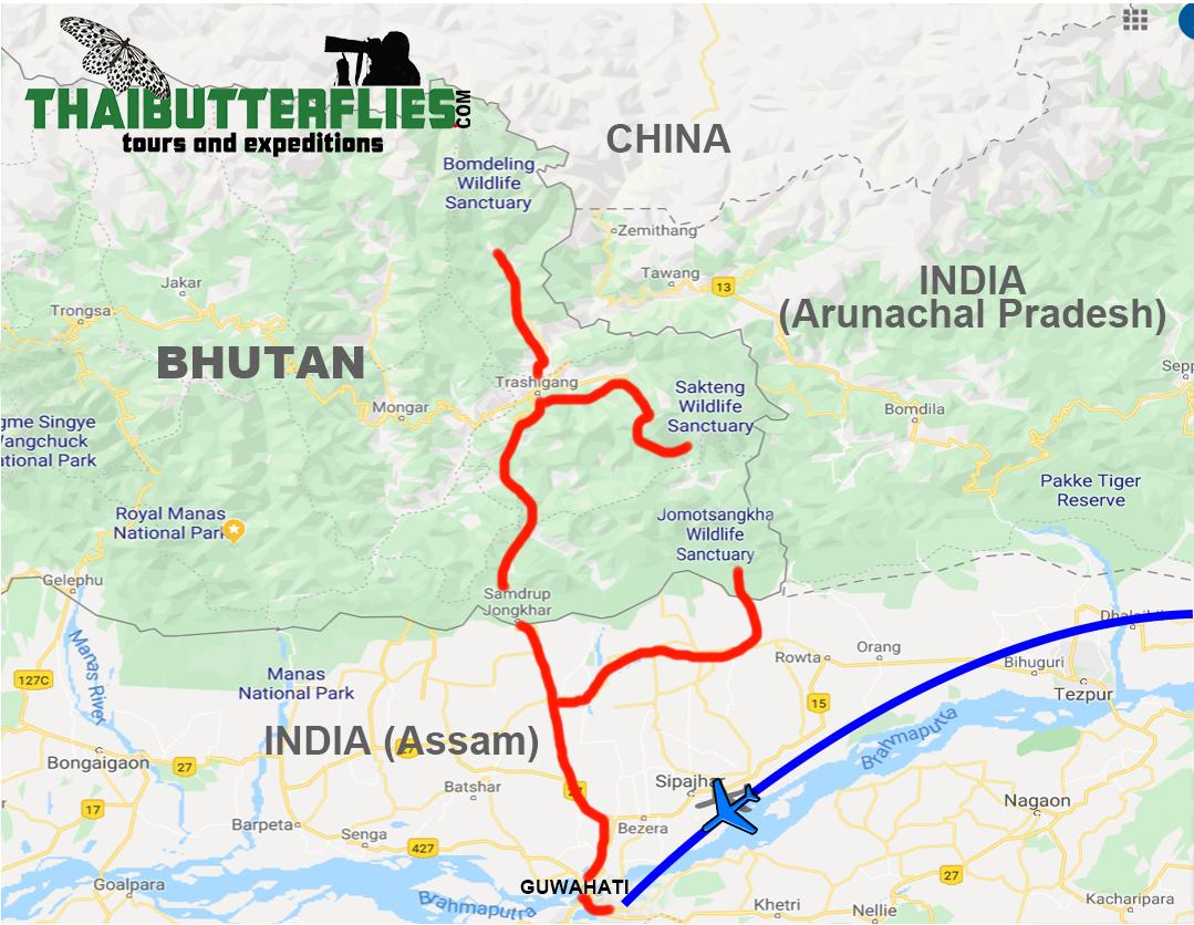 Bhutan Map 2020