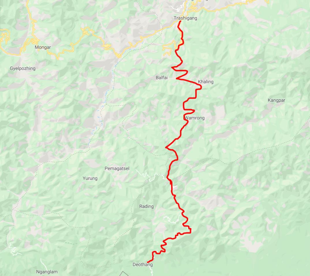 Map Trashigang